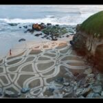 Арт на природе — картины на песке Andres Amador.