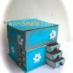 МК комод из коробков для бисера.