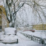 Санкт-Петербург. Заснеженная набережная