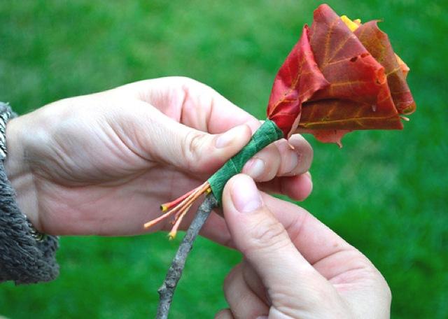 Букет из листьев своими руками