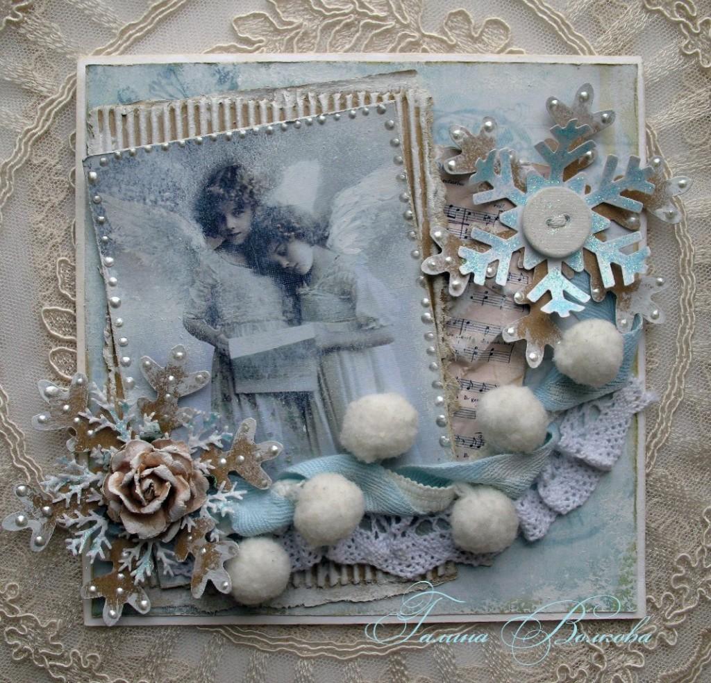 Новогодние и рождественские открытки своими руками