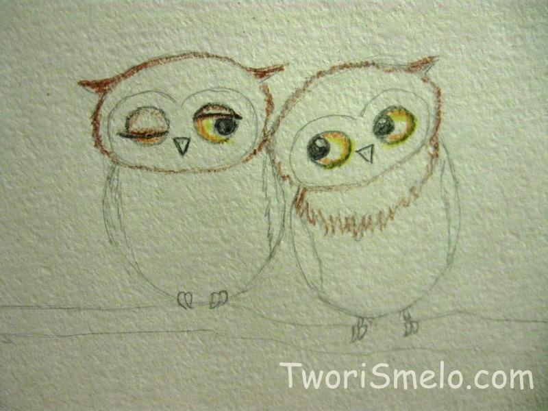 Нарисовать сову поэтапно