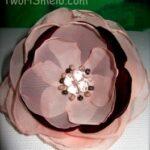 Как сделать цветок пиона из ткани.
