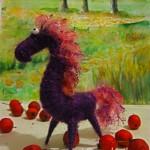 Игрушки к новому 2014 году — лошадь из ниток