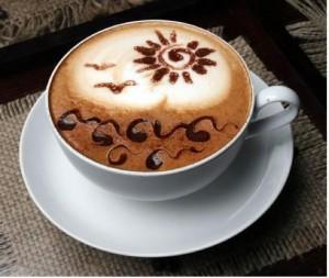 рисунок на пенке кофейной