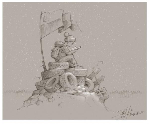 карикатры майдана