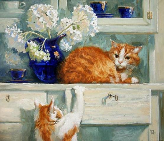 Коты своими руками из подручных материалов