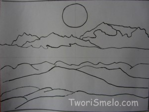 нарисовать горы