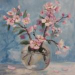 Как нарисовать цветущую ветку яблони
