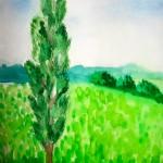 Как нарисовать дерево (тополь)