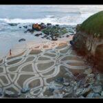 Арт на природе – картины на песке Andres Amador.