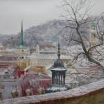 Крыши зимней Праги.