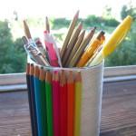 Стакан для карандашей своими руками