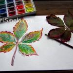 Как нарисовать осенний лист акварелью