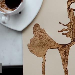 рисунки разлитым кофем