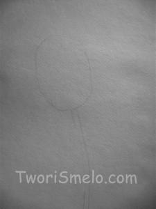 ка нарисовать тюльпан карандашом