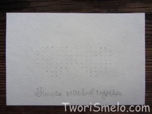 открытка валентинка ручной работы