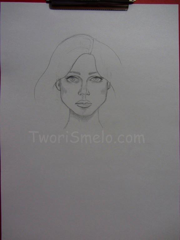 нарисовать портрет карандашом