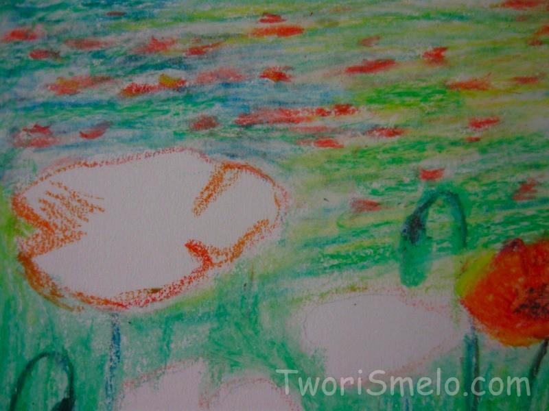 урок рисования пастелью