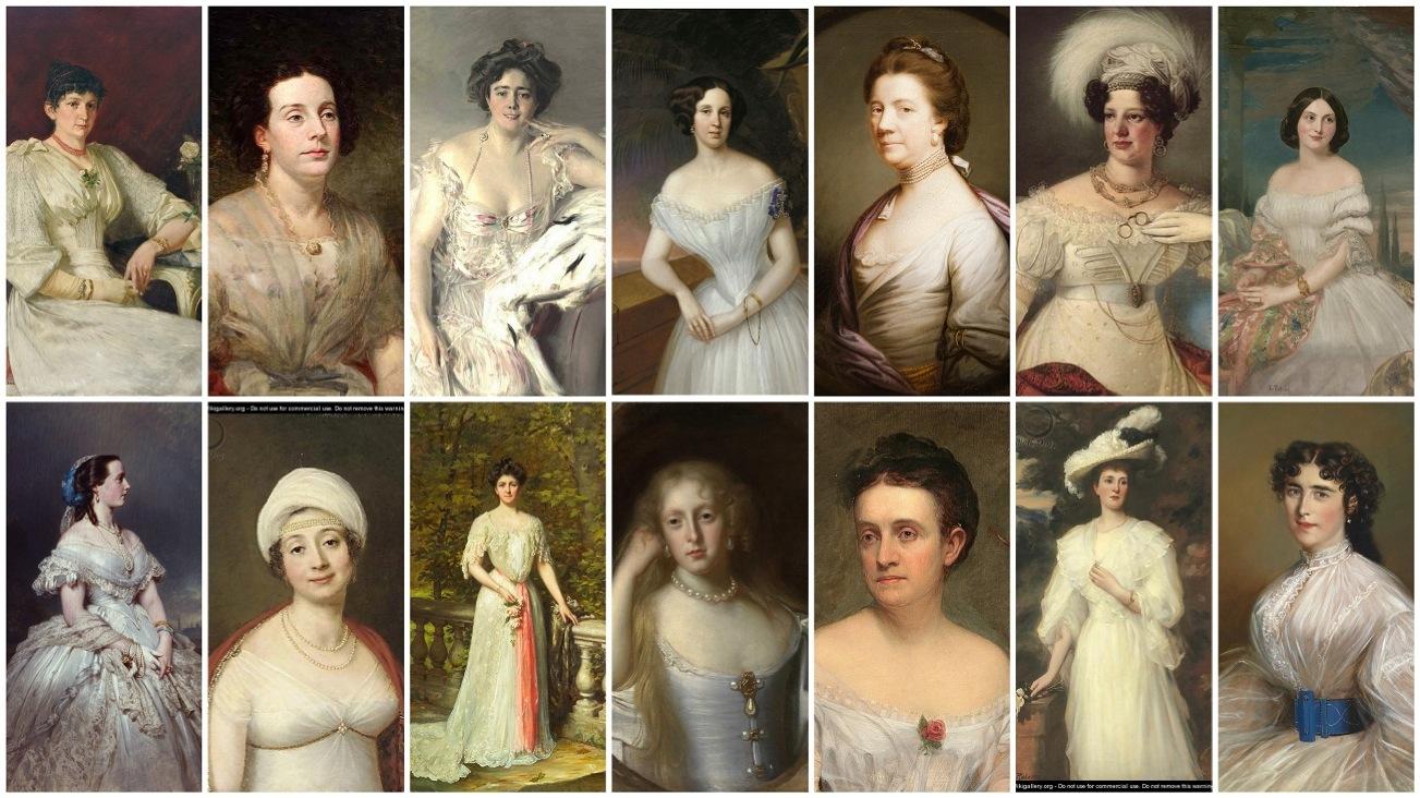 женские прически, как часть образа в живописи