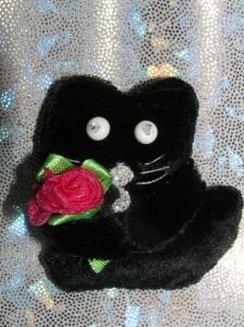 брошь-кот