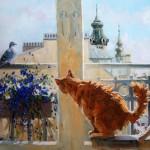 кот на картине Павловой