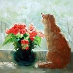 Цветы и коты художницы Марии Павловой.
