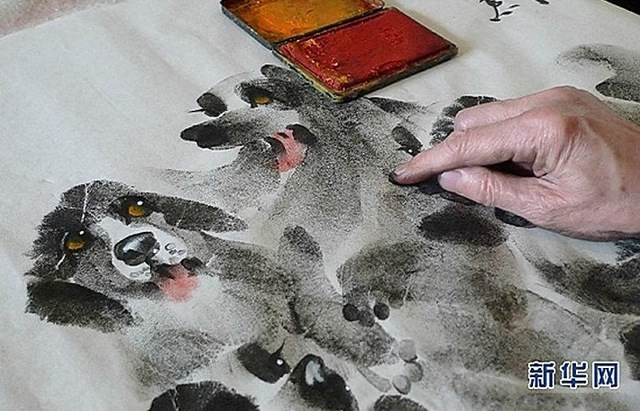 Чжан Баохуан рисунки из отпечатков