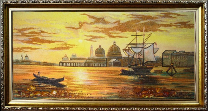 картины из янтаря