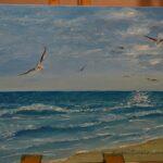 Как нарисовать море, пишем маслом