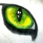 Как нарисовать кошачий глаз